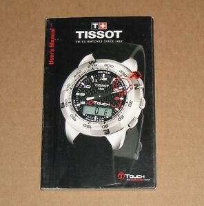 tissot t touch watch instruction operating user s manual ebay rh ebay com au tissot touch expert instruction manual tissot t-touch instruction manual