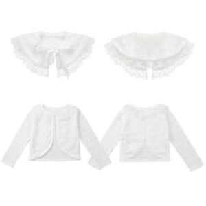 Kids-Baby-Flower-Girls-Bridesmaid-Bolero-Jacket-Shrug-Lace-Party-Short-Cardigan