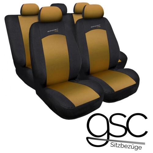 Seat Leon Universel Gold Sitzbezüge Housse De Siège Auto Housses de Protection Référence Déjà