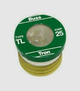 3pk Bussmann Buss 25Amp Time-Delay Tron TL PLUG FUSE Plastic Tube Auto BP// TL-25
