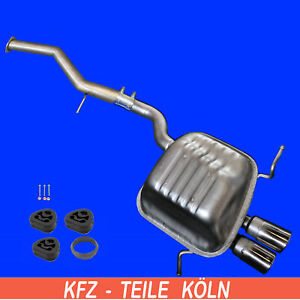 Mercedes-CLK-C208-A208-200-230-Kompressor-Endschalldampfer-ab-KAT-Set