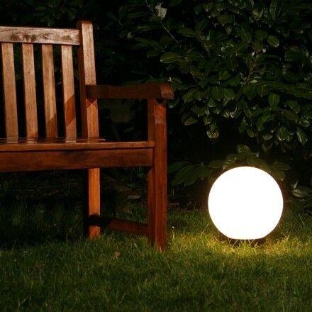 Sfera luminosa giardino illuminazione esterni vetro acrilico design IP44 36788