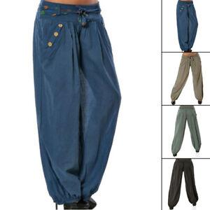 513c9edaff Women Baggy Harem Pants Yoga Gym Dance Hippie Boho Gypsy Loose ...