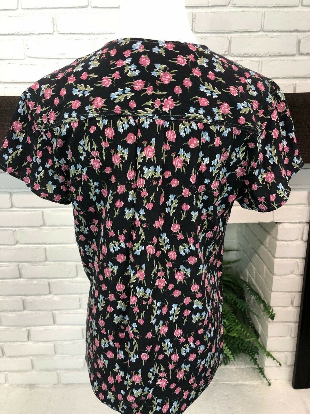RAG AND BONE Floral Short Sleeve Blouse Size XS B… - image 6
