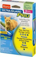 2 Hartz Ultra Guard Pro Topical Flea and Tick for Cats and Kittens - 6 App