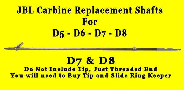 Shaft for JBL Mini D5 Carbine D6 SpearGun D7 Super Spear Gun D8 Replace lost