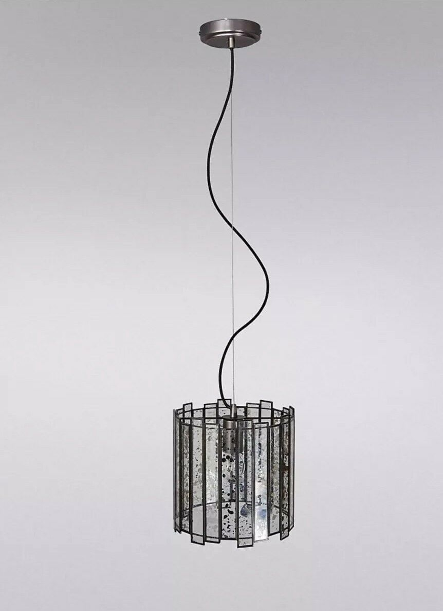 M&S Home Amelia Antiqued Mirror Pendant Light (One Größe) - Pewter