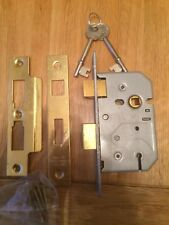 Union 78mm Polished Lead 3 Lever Mortice Lock With 2 Keys