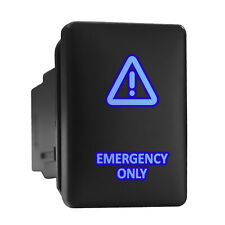 Emergency Only Blue Backlit Switch Short Push Button 128x 087 Fit Toyota