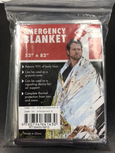 """Emergency Mylar Thermal Blanket 52/"""" x 82/"""" Survival Water-Proof Blanket"""