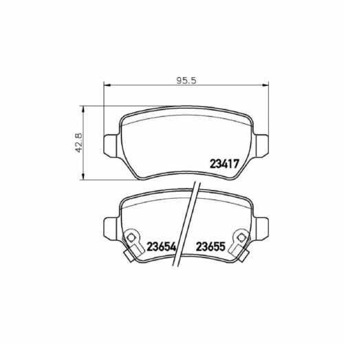 New Vauxhall Zafira MK1//A 2.0 DTI 16V Genuine Mintex Rear Brake Pads Set