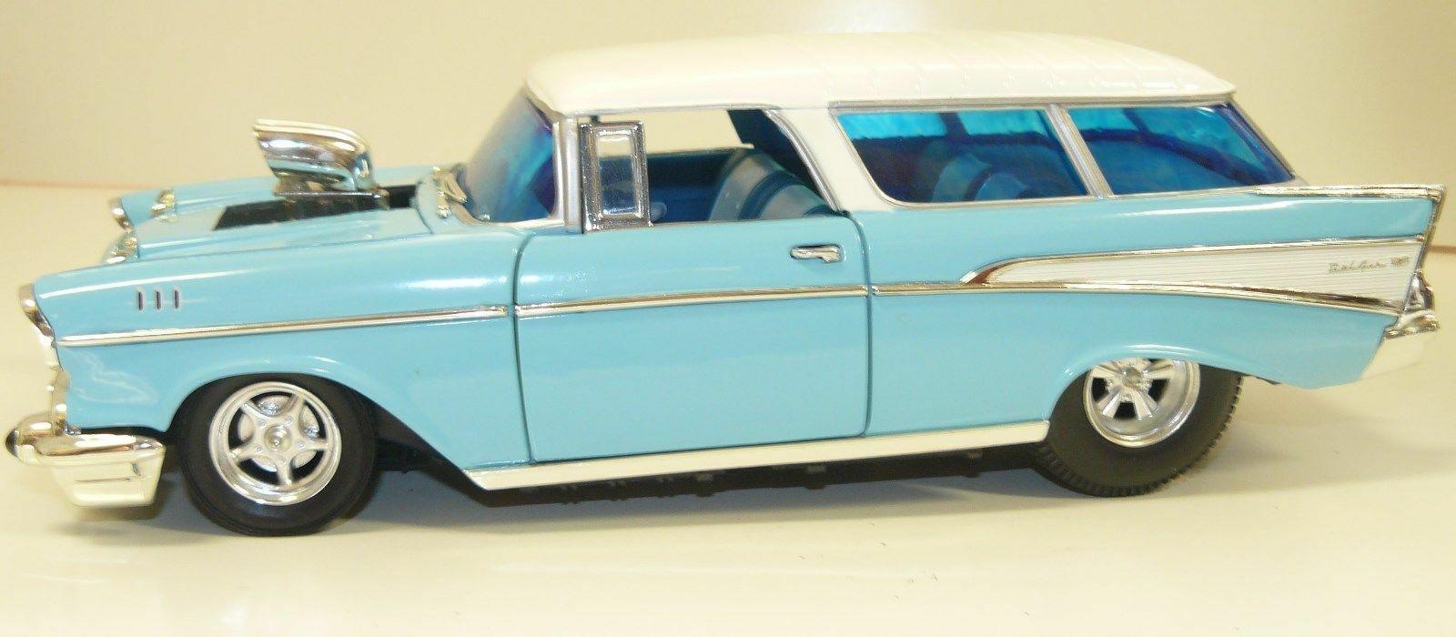 entrega rápida 1 18, hecho hecho hecho a medida 1957 Chevrolet Nomad Gasser, Arrastre coche,  precios bajos todos los dias