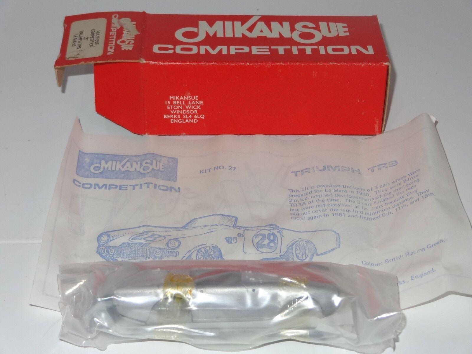 (B) MIKANSUE blanc Metal Kit TRIUMPH TRS Le Mans - 27 Comme neuf STILL SEALED Dans Bag