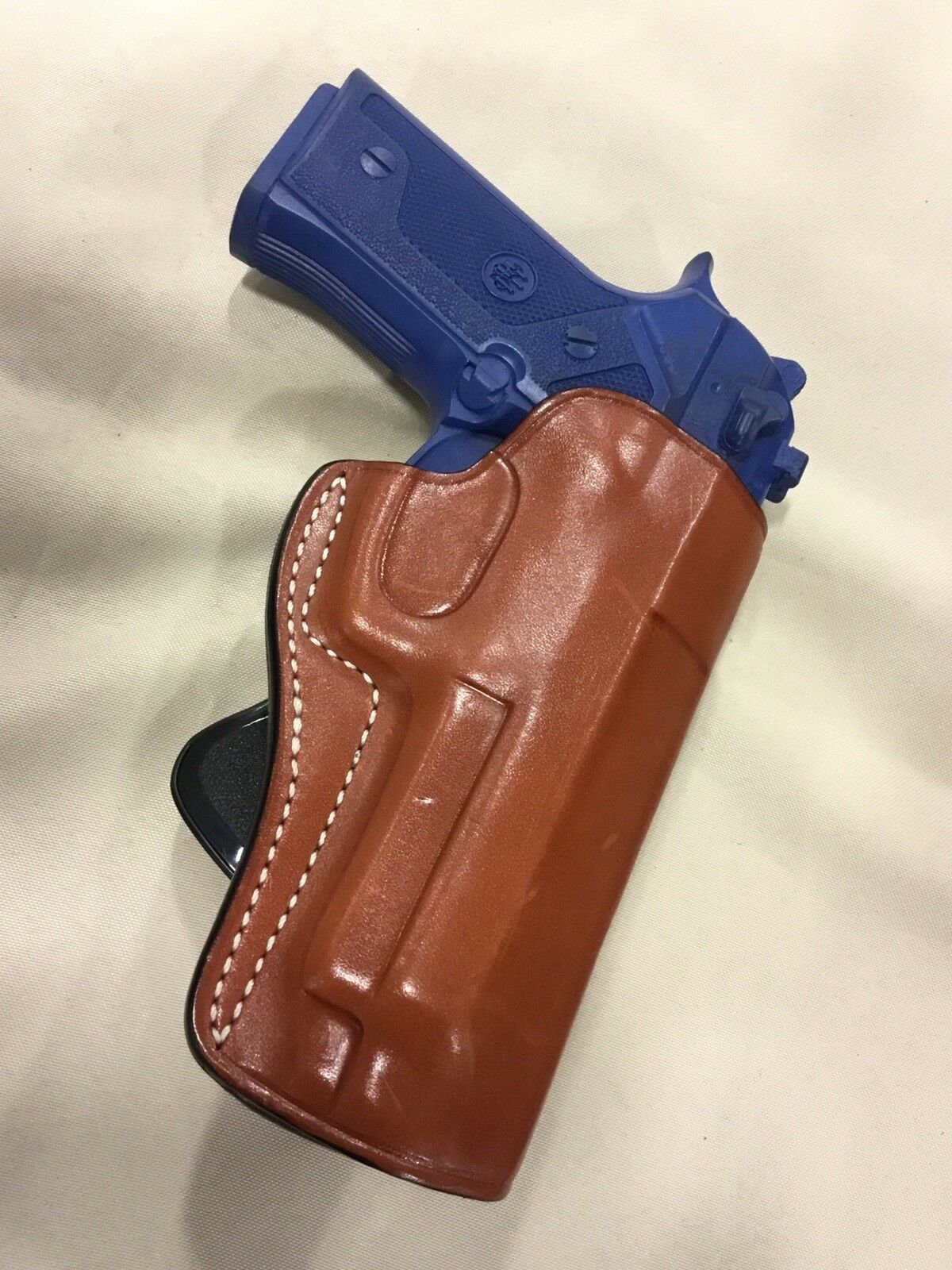 Premium Leather PADDLE Holster for BERETTA 92   92F   92FS (BLK)