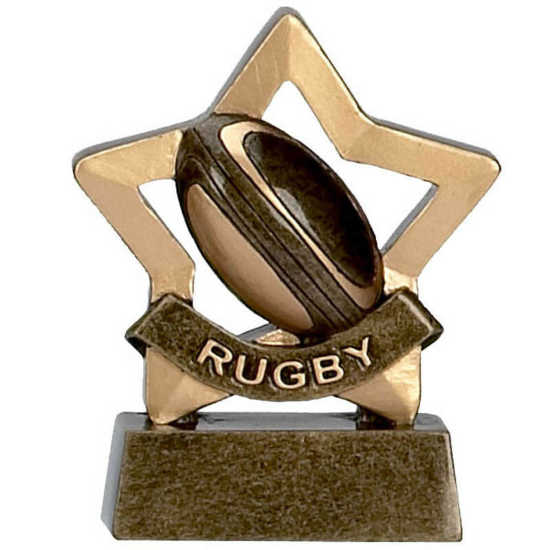 10 x Rugby Mini Stars Prize Award Trophy FREE ENGRAVING  Star Player