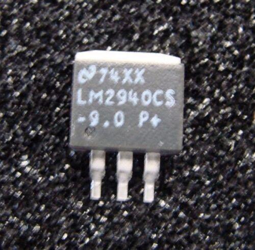 TI National 9V/1A Regulator LM2940CS-9.0, TO-263, Qty.10