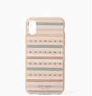 Kate Spade iPhone X XS Jeweled Stripe Phone Case Resin Glitter 100 Authentic