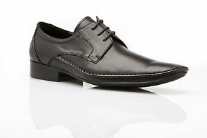 MENS-ZASEL-NORRIS-Black-Leather-Lace-Up-Work-Formal-Casual-Work-Formal-Shoes