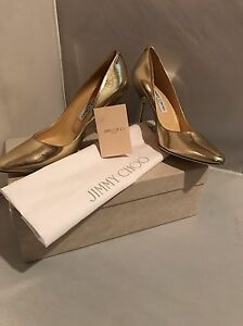 04d23d6bbefc New in Box! Jimmy Choo Mei Metallic Leather Pumps- size 9 39