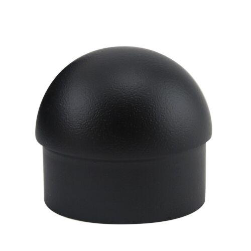 "Domed End Cap for Bar Foot Rail Pub Feet Rest Decor Matte Black 2/"" OD"