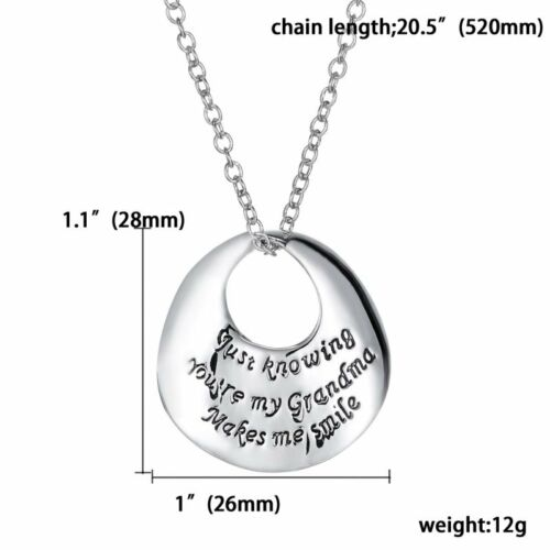 2019 Family Lover Friend Members Proverbs Love Letter Simple Pendant Necklace