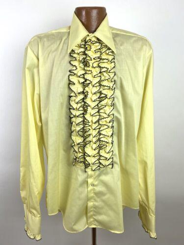 Vintage 70s after six Tuxedo Dress Shirt Men's Lar