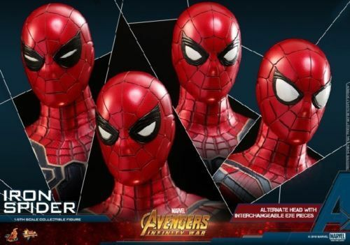 Hot Toys MMS482 1 6th The Avengers 3 Iron Man Spider Man Figure Collection