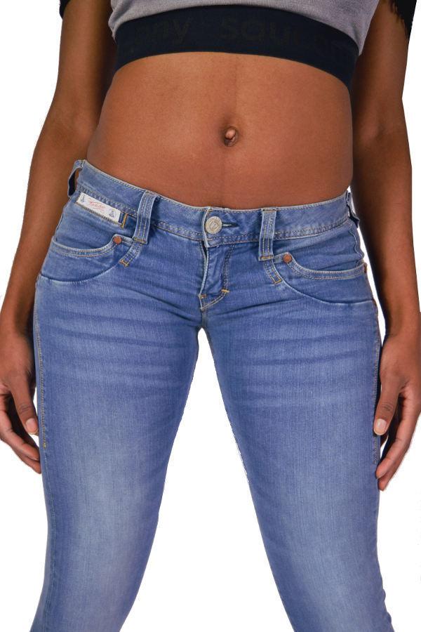 Herrlicher PIPER SLIM Jeans 5650 D9668 Blau Sash - Powerstretch Denim NEU