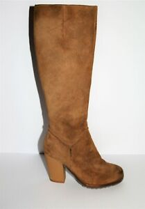 Wittner-Brand-Beige-Suede-Leather-Knee-High-Boots-Size-36-LIKE-NEW