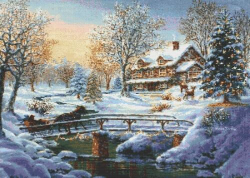 CROSS STITCH CHART COMING HOME FOR CHRISTMAS