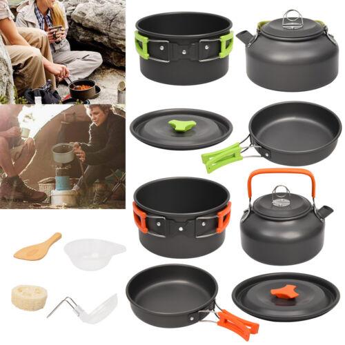 2-3 Person Kochtopf Camping Kochgeschirr Outdoor-Töpfe Bratpfanne Kettle Topfset