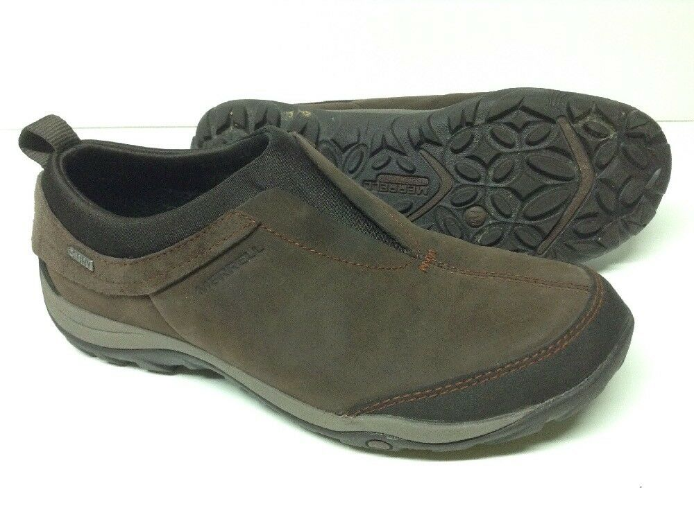 nuovo sadico Merrell DEWBROOK MOC WATERPROOF WATERPROOF WATERPROOF US 8.5 EU 39 Donna's Moccasin Slip On scarpe Marrone  prima i clienti