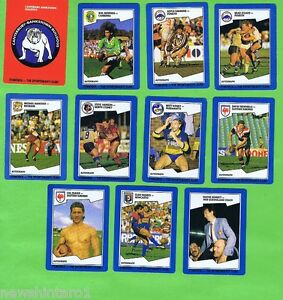 #D56. ELEVEN 1989 RUGBY LEAGUE CARDS
