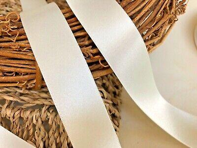 3 metres of Berisfords BRIDAL WHITE shade 419 double satin ribbon various widths