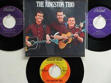 LOT OF 4 ' THE KINGSTON TRIO ' HIT 45's+1P(Copy)[A Worried Man]  THE 50's&60's!