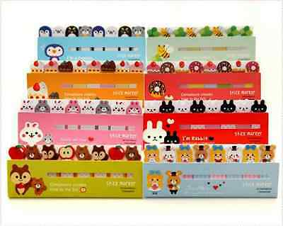 Cute Animals Sticker Bookmark Marker Memo Flags Index Tab Sticky Notes