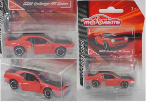 Majorette 212053052 Dodge Challenger SRT Demon rojo//negro nº 238d-1 Premium
