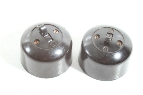 alter Kippschalter Bakelit Aufputz Lichtschalter art deco loft design Schalter