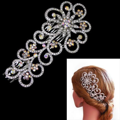 """5.5/"""" 14cm Large Vintage Design Wedding Bridal Flower Girl Hair Slide Comb"""