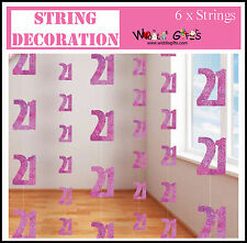 21st Birthday Pink hanging door decoration – length 60in