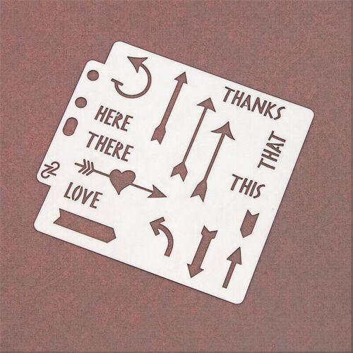 Arrow Love Cover template Stencils Cake spray mold pattern Scrapbooking DIY