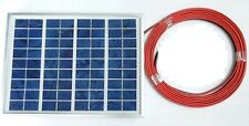 New 5w PV Solar Panel c/w 3m cable  for 12v Battery System Charging top up CE UK
