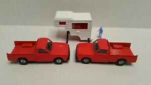 Vintage-Corgi-Mazda-B1600-Pickup-Camper-Lot-1-36-Red-HTF