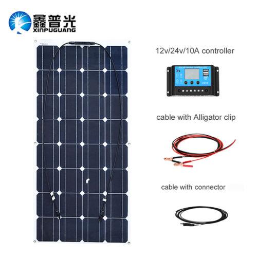 100w Flexible Solarmodul Solar Panel 20A Controller für Boot House Solar Charger
