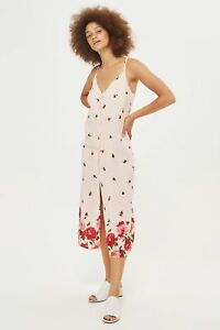 New-ex-Topshop-Floral-Border-Button-Down-Midi-Slip-Dress-RRP-39-Sizes-6-14