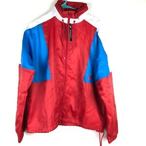 Nike-1989-Re-Issue-Woven-Windbreaker-Jacket-Red-Blue-White-AQ1890-657-Mens-Small