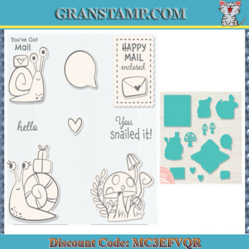 SNAILED IT Metal Cutting Dies and Stamps for DIY Scrapbooking 2021