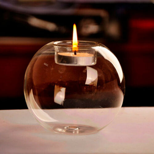 6-36pcs Glass Sphere Bauble Ball Shaped Tea Lights Candle Holder Party Christmas