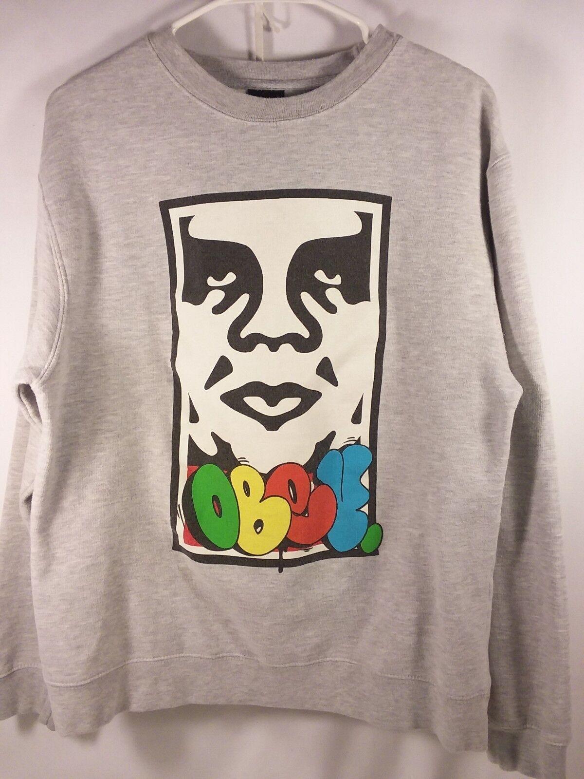 OBEY COPE Sweatshirt Takeover  Herren Medium Heather grau Face Graffiti Graphic