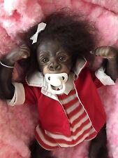 CHERISH DOLLS UK REBORN BABY KIWI GIRL GORILLA NAPPY MAGNETIC ROOTED HAIR